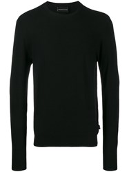 Emporio Armani Crew Neck Sweater Black