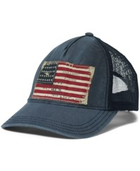 Denim And Supply Ralph Lauren Flag Chino Trucker Hat Black Denim
