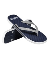 Forever Collectibles Seattle Seahawks Thong Sandals Navy