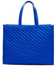 Balenciaga Market Shopper M Logo Canvas Tote Blue