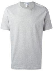 Comme Des Garcons Shirt Boys Short Sleeved T With Branding Grey