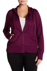 Z By Zella Front Zip Hoodie Plus Size Purple
