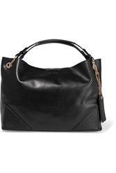 Karl Lagerfeld K Slouchy Leather Tote Bag Black
