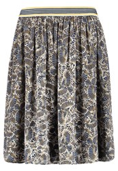 Betty And Co. Co Aline Skirt Classic Blue Yellow Dark Blue