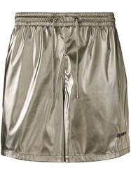 Misbhv Logo Embroidered Track Shorts Metallic
