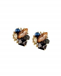 Panacea Statement Crystal Cluster Earrings Multi