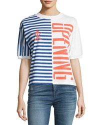Opening Ceremony Striped Stretch Logo Tee Multicolor