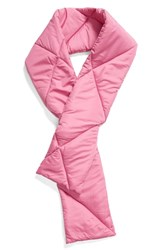 Trouve Puffer Scarf Pink Bodacious