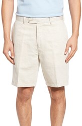 Peter Millar Men's Carmel Linen Blend Shorts Light Sand