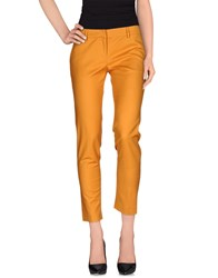 Atos Lombardini Trousers Casual Trousers Women Orange