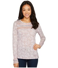Prana Tilly Top Earth Grey Willow Long Sleeve Pullover Gray