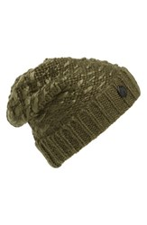 Women's Vince Camuto Thick Yarn Cuff Hat Green Deep Olive