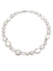Ippolita Rock Candy Clear Quartz Mother Of Pearl White Moonstone And Sterling Silver Necklace