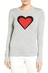 Halogenr Women's Halogen Graphic Pullover Grey Black Red Heart