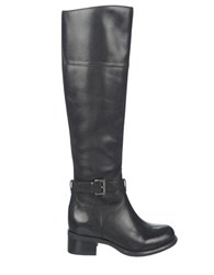Franco Sarto Corda Wide Calf Leather Riding Boots Black