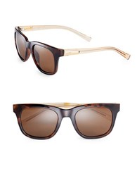 Calvin Klein 53Mm Wafarer Sunglasses Brown