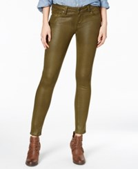 Lucky Brand Charlie Coated Military Green Wash Skinny Jeans