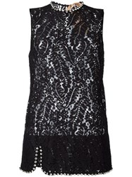N 21 No21 Lace Tank Top Black