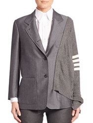 Thom Browne Horn Buttoned Jacket Medium Grey