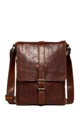 Frye Logan Small Leather Messenger Brown