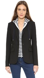 Veronica Beard Striped Hoodie Dickey Navy White