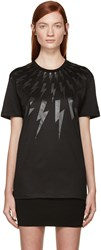 Neil Barrett Black Thunderbolt T Shirt