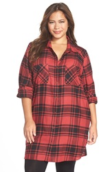 Make Model Flannel Nightshirt Plus Size Red Beauty Mandy Plaid