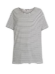 R 13 Rosie Striped T Shirt Black White