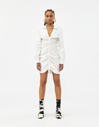 Which We Want Seena Drawcord Dress White