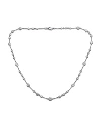 Neiman Marcus Diamonds 14K White Gold By The Yard Diamond Necklace