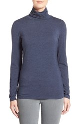 Women's Nordstrom Collection 'Ultimate' Stretch Modal Turtleneck Top Blue Depths Heather