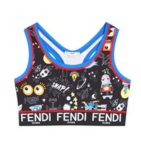 Fendi Printed Crop Top Multicoloured