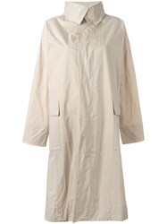 Issey Miyake Single Breasted Coat Nude Neutrals