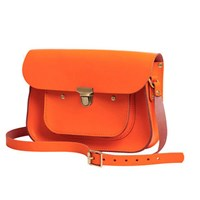 N'damus London Orange 11 Inches Mini Pocket Satchel Yellow Orange