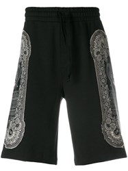 Les Benjamins Side Print Shorts Black