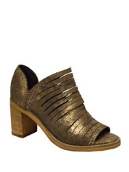 Naughty Monkey Blind Date Glittering Leather Shooties Gold