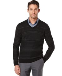 Perry Ellis Big And Tall Jacquard V Neck Sweater