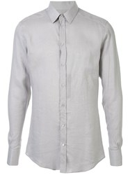 Dolce And Gabbana Fitted Tailored Shirt Grey