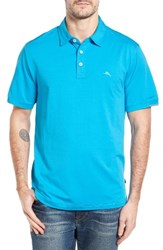 Tommy Bahama Men's Big And Tall Tropicool Spectator Polo Blue Danube