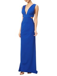 Adrianna Papell Jersey Sleeveless Gown Royal Blue