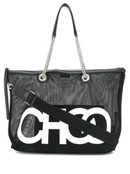 Jimmy Choo Allegra Mesh Tote Black