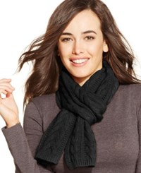 Charter Club Cable Cashmere Muffler Classic Black