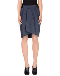 Hache Skirts Knee Length Skirts Women Slate Blue
