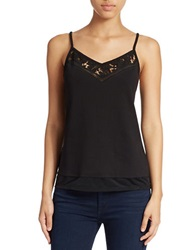 French Connection Lace Detail Camisole Black
