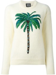 Fausto Puglisi Embroidered Palm Tree Jumper Nude And Neutrals