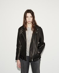 Alexander Wang Oversized Moto Jacket Black