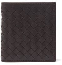 Bottega Veneta Intrecciato Leather Billfold Wallet Brown