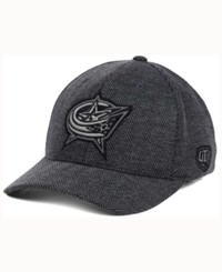 Old Time Hockey Columbus Blue Jackets Jagged Flex Cap Grey Herringbone Reflective Silver