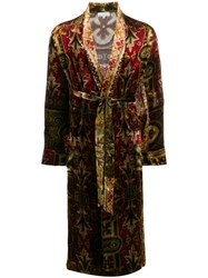 Pierre Louis Mascia Brocade Coat Red