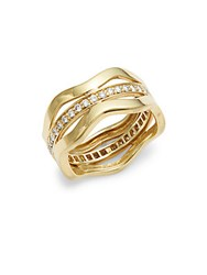 Kwiat Wave Diamond And 18K Yellow Gold Fancy Ring